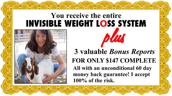 Invisible Weight Loss Day Unconditional Money Back Guarantee