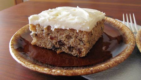 One serving size of Applesauce Cake. Photo/B.Yarnell