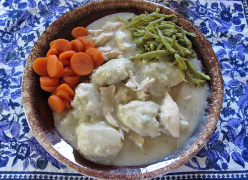 My chicken and dumplings recipe. Photo/B.Yarnell