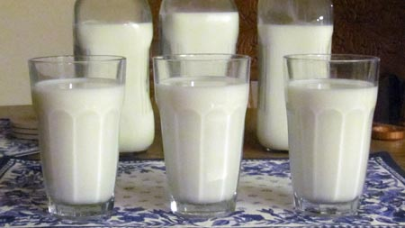 Do you know which glass has the most milk calories? Photo/B.Yarnell