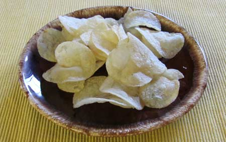 Potato chips - 75% of the recommended portion sizes. Photo/B.Yarnell
