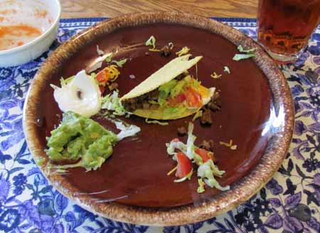 Left 25% of the tacos on the plate. Photo/B.Yarnell