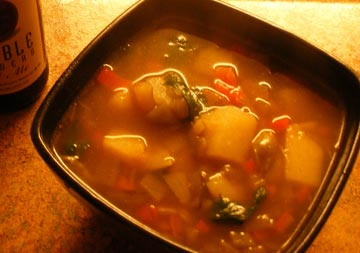 Easy chicken recipe, Green Chili Stew. Photo/aurora